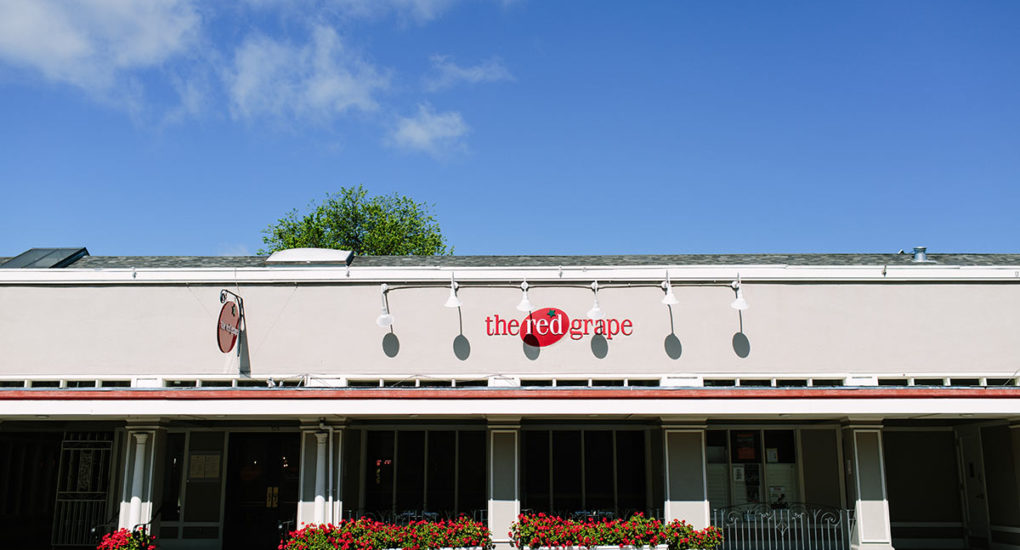 Exterior view of the front of the Red Grape
